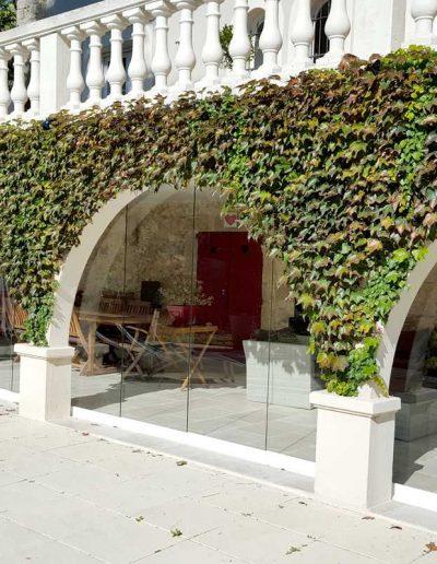 Fermeture en Verre Panoramique - Villa à Cannes