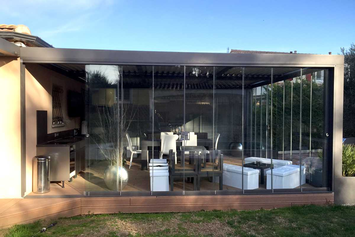 Pergola Bioclimatique en verre