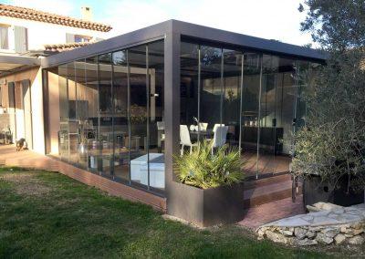 Fermeture vitrée Panoramique sur Pergola