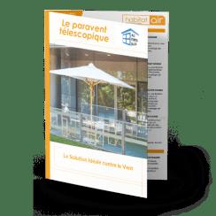 Brochure sur le paravent rétractable en verre