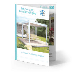 Pergola bioclimatique en verre pour terrasse