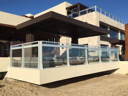 Paravent en verre sur terrasse - Nice