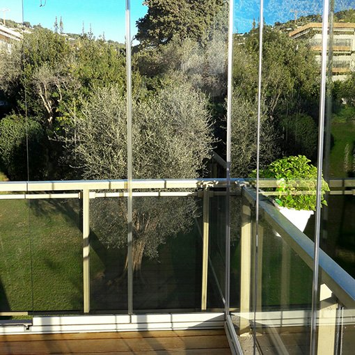 Rideau de Verre pour Terrasse