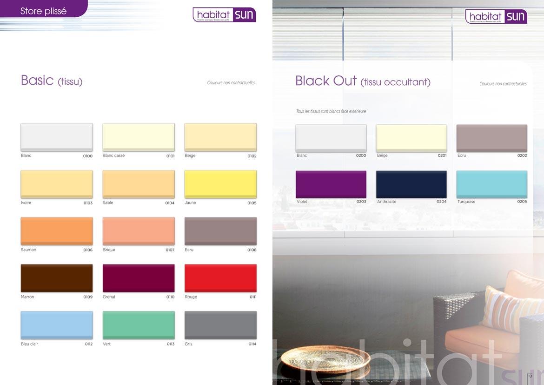 Coloris au choix pour un Store Plissé en tissu
