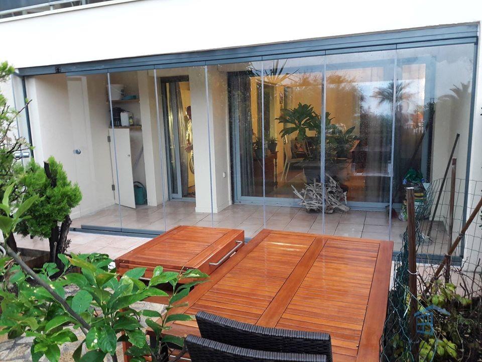 Terrasse en verre à Cannes