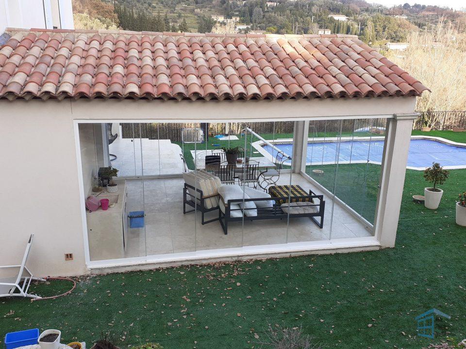 Vitrage sur mesure - Terrasse à Opio