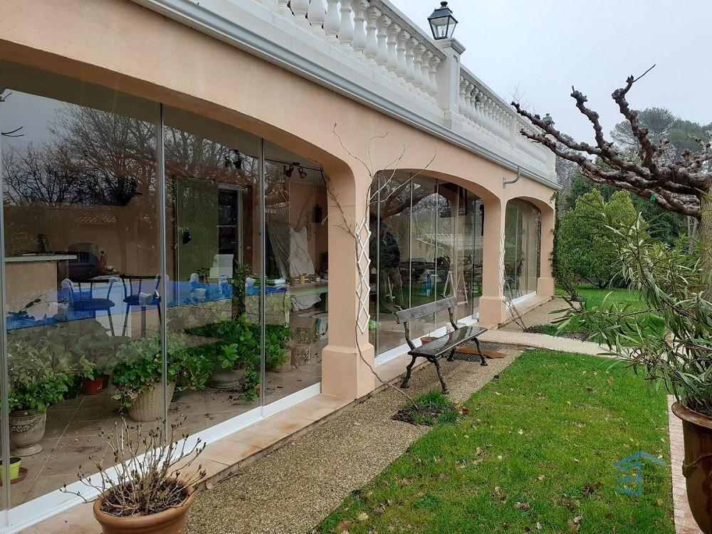 Cloison vitrée coulissante à La Roquebrussanne - Photo 1
