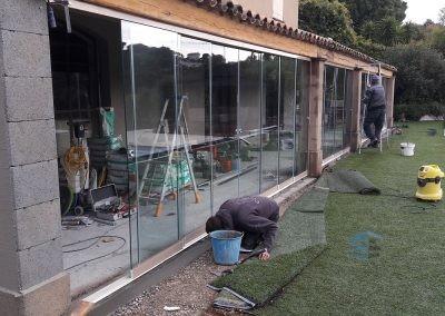 Cloison en verre coulissante à Ramatuelle - Photo 2